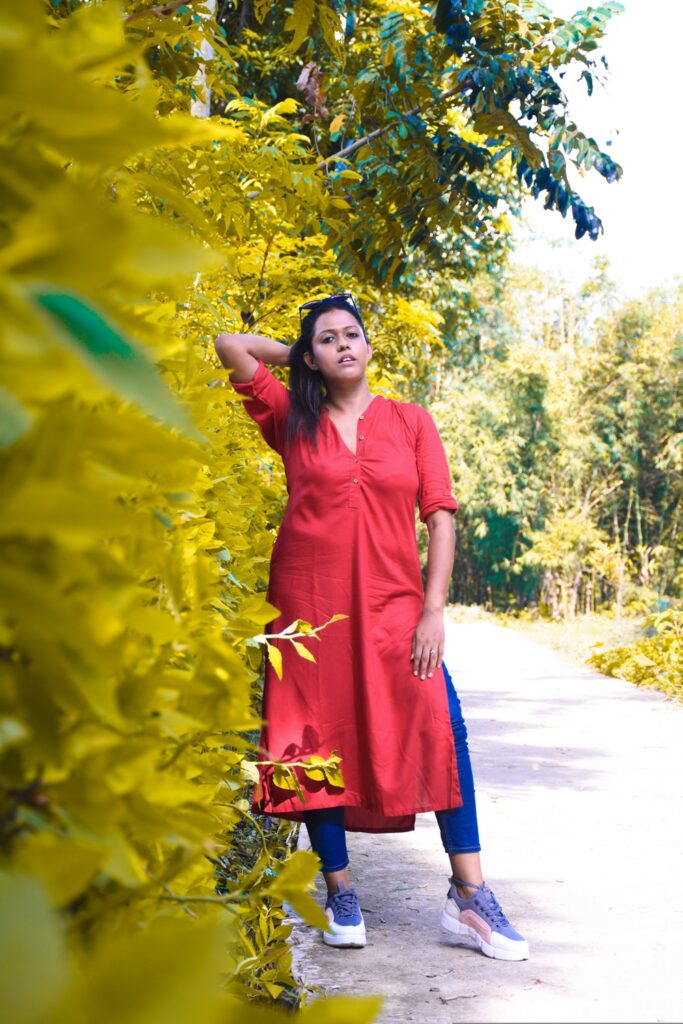 How to style a red kurta from work to family get together